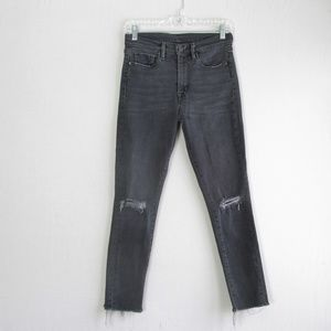 UO BDG black gray crop twig high rise skinny jeans